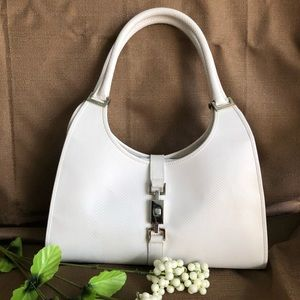 🥂 Vintage Beauty: Gucci White Bardot Hobo VGUC